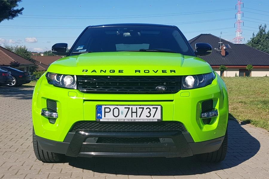 Zmiana koloru auta Range Rover